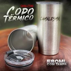 Copo Térmico Inox 580ml  C/ Tampa - Camalesma
